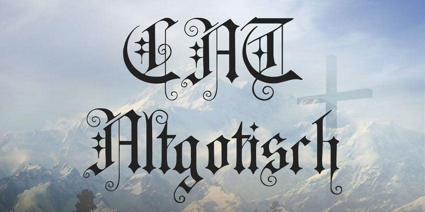 CAT Altgotisch Font