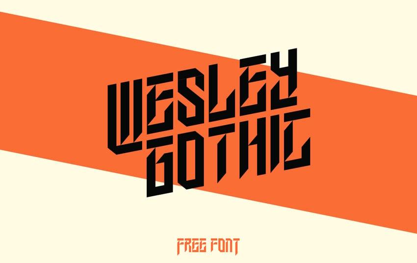 Wesley Gothic Font
