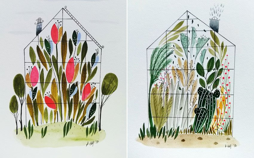 Greenhouse Illustrations
