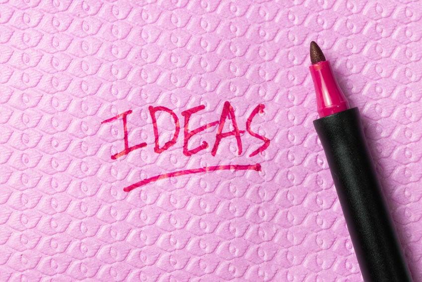 Write ideas down