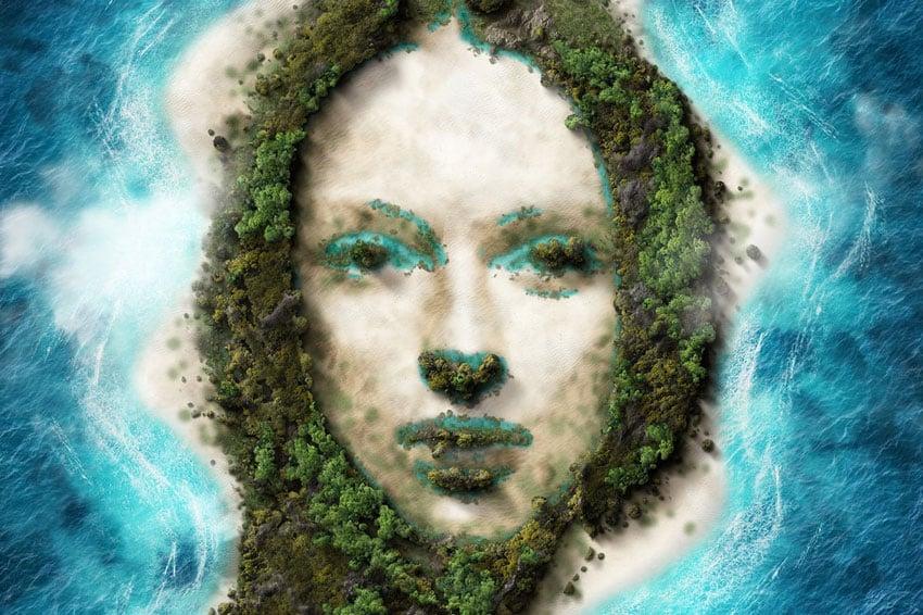 Island Portrait Photoshop Action