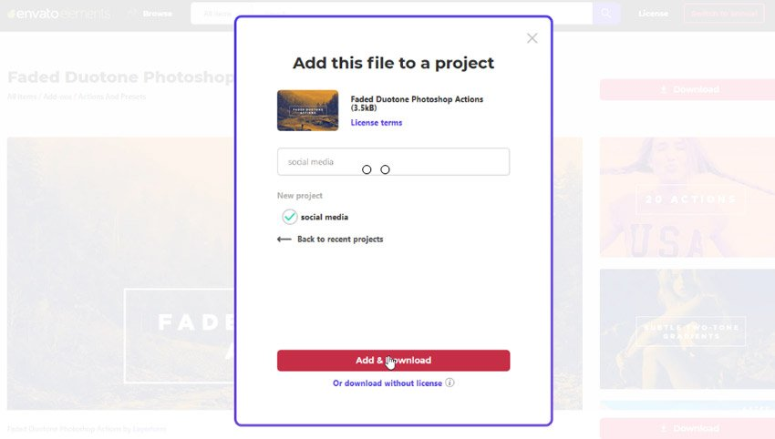 How to download from Envato Elements