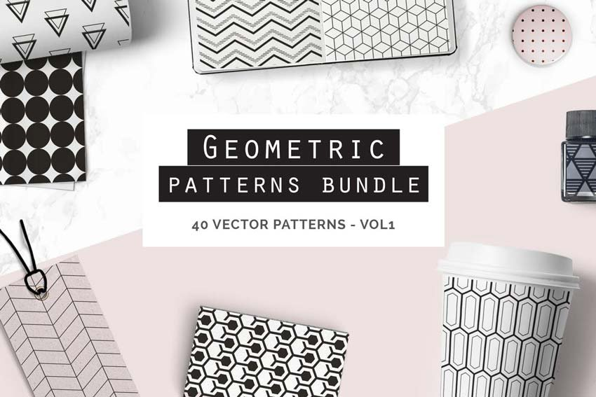 Geometric Seamless Patterns Bundle