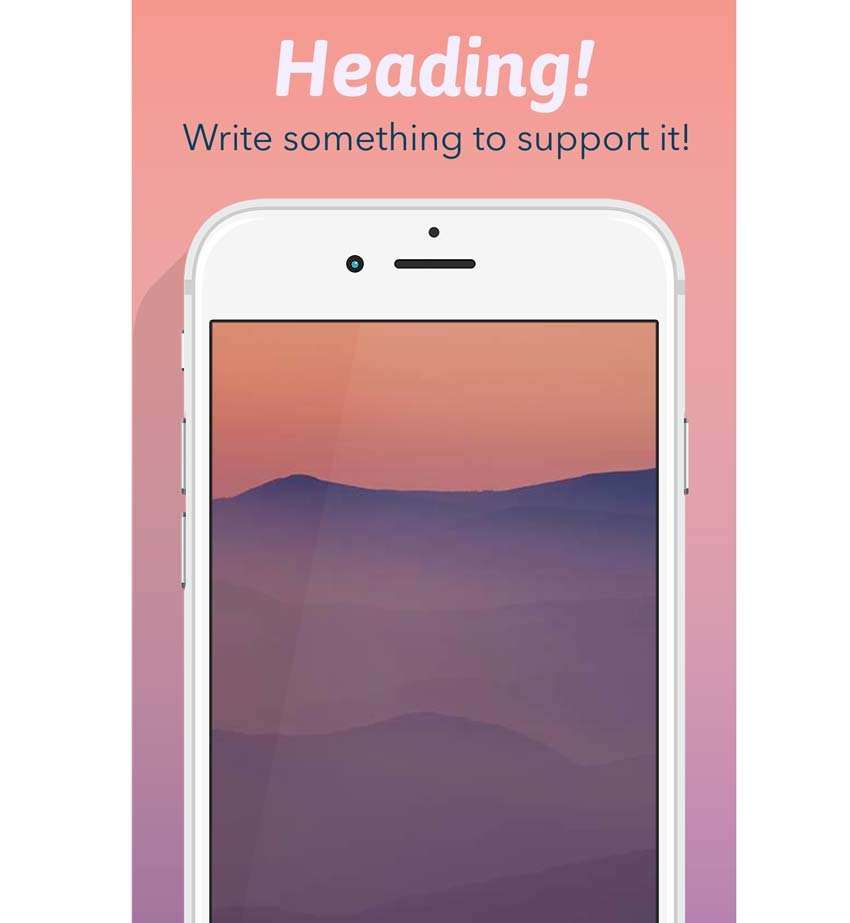White iPhone Portrait Template