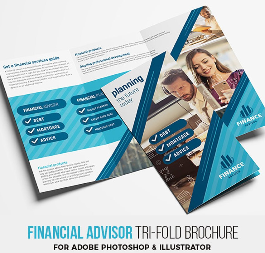 Financial Advisor Trifold Brochure Template