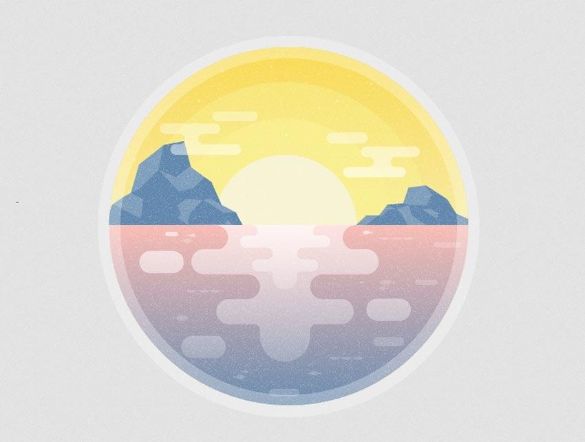 How to Create a Subtle Summer Sunset Textured Illustration in Adobe Illustrator