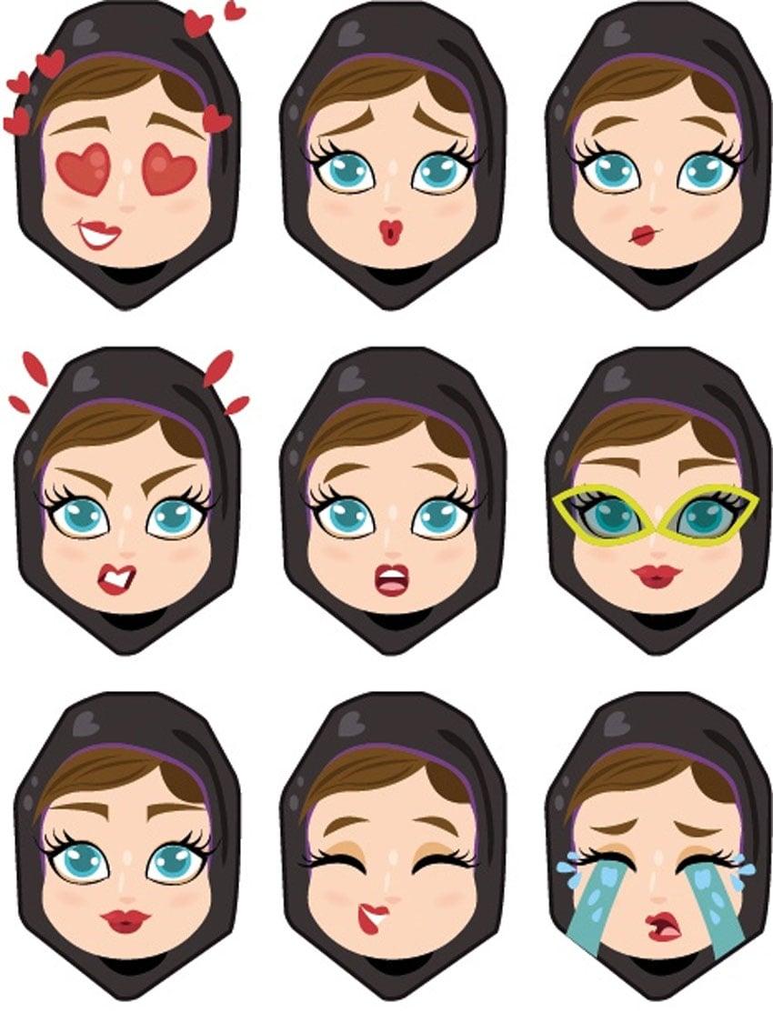 How to Create Khaleeji Woman Emoji iMessage Stickers in Adobe Illustrator