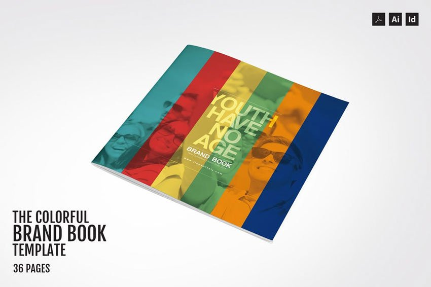 Colorful Brand Book Template