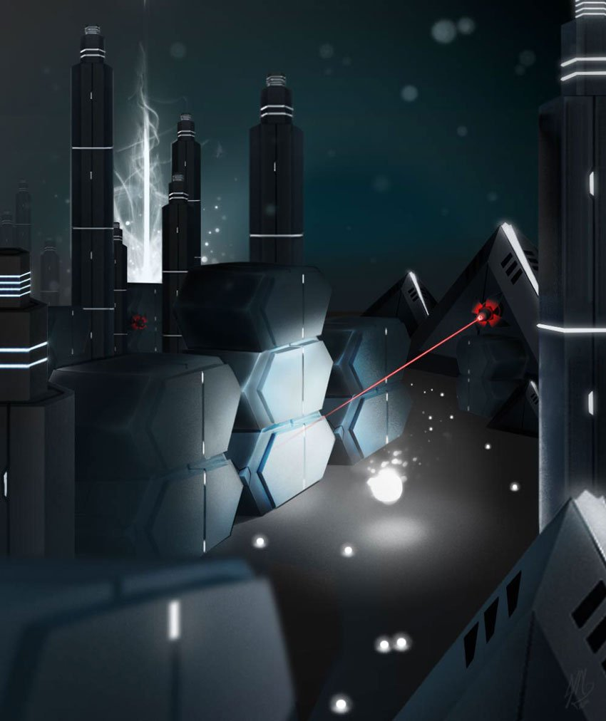 Game Project Particle Rush - Environment Concepts