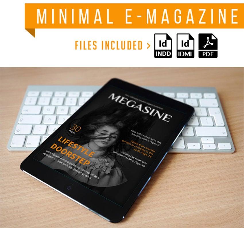 Minimal E Magazine Template