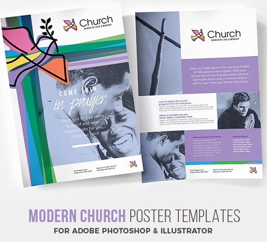 Modern Church Poster Template