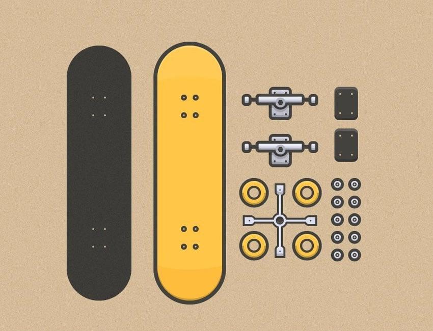 How to Create a Line Art Based Skateboarder Kit in Adobe Illustrator