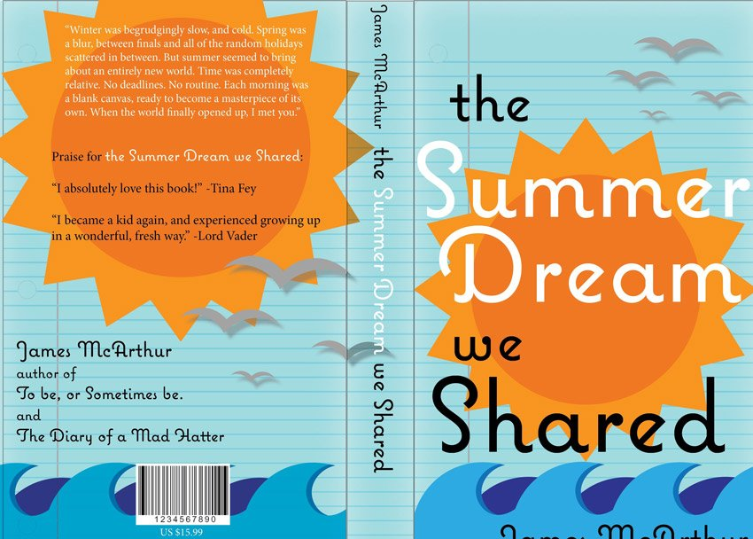 Design a Hardback Cover for a Young Adult Fiction Book in Adobe InDesign