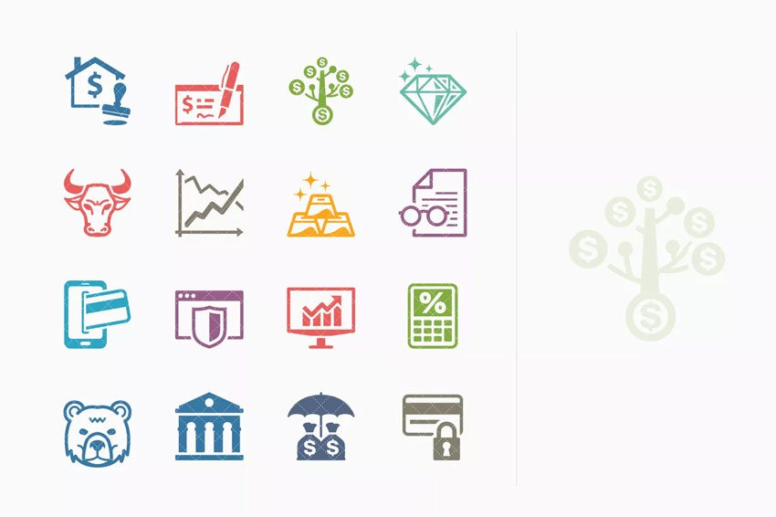 Personal  Business Finance Icons