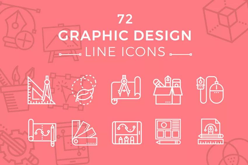 Graphic Design Line Icons