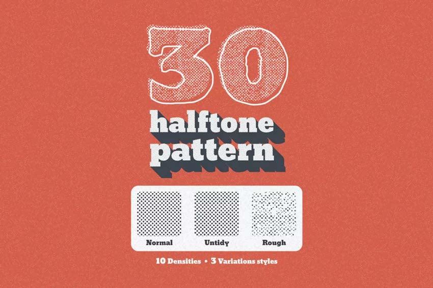 30 Seamless Tiled Halftone Pattern