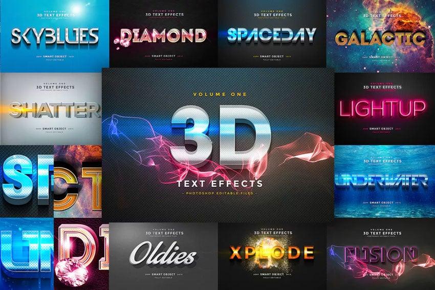 3D Text Effects Vol1