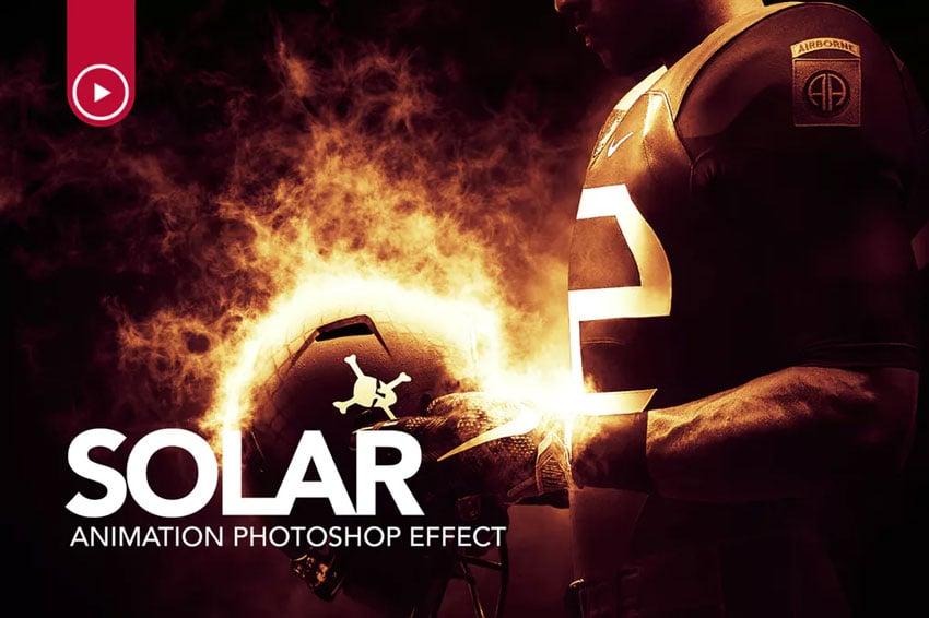 Solar Animation Photoshop Action