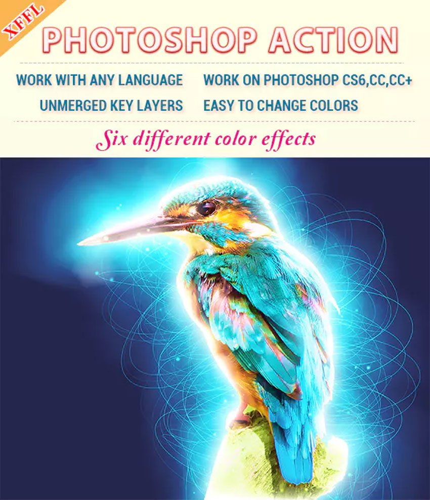 Glowing Edges Effect Photoshop Action