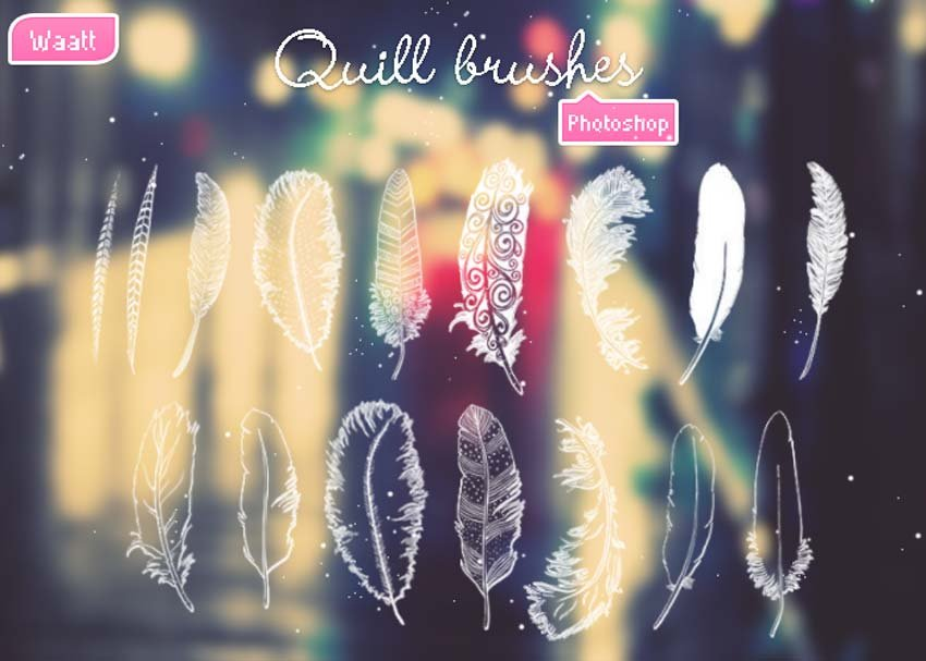 Quill Brushes Photoshop