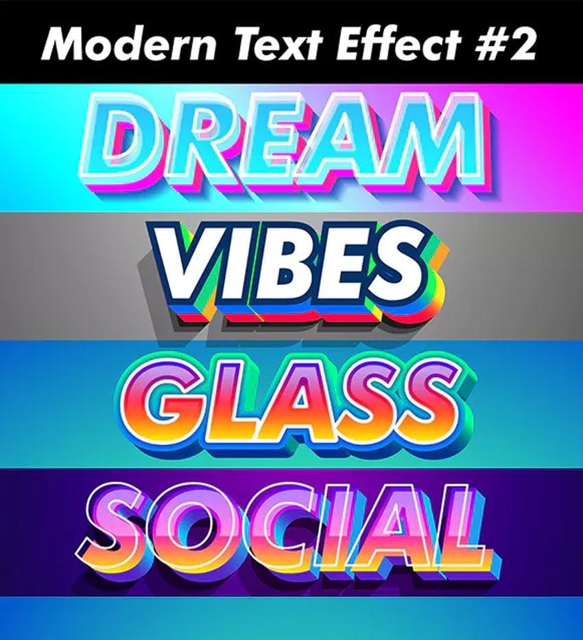 3D Stylized Modern Text Effect