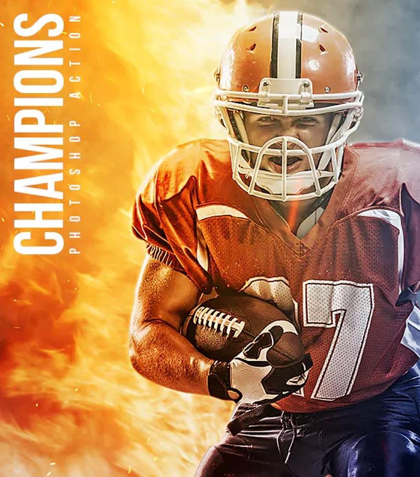 Champions Photoshop Action