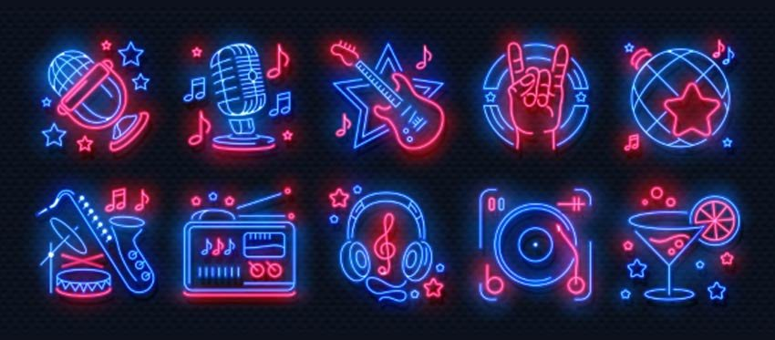 Neon Party Icons