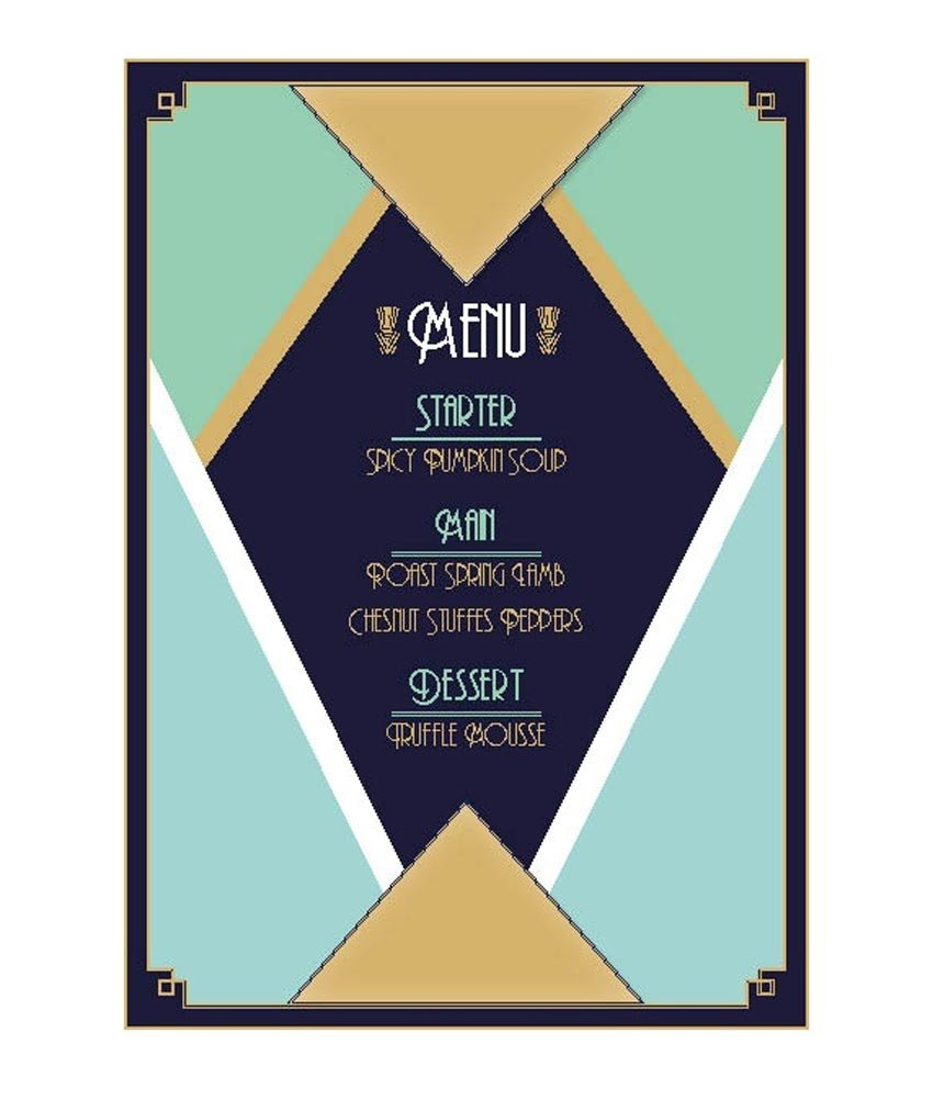 Design a Glamorous Art Deco Menu in Adobe InDesign