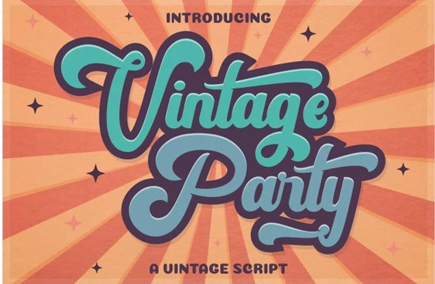 Vintage Party - 80s Retro Font