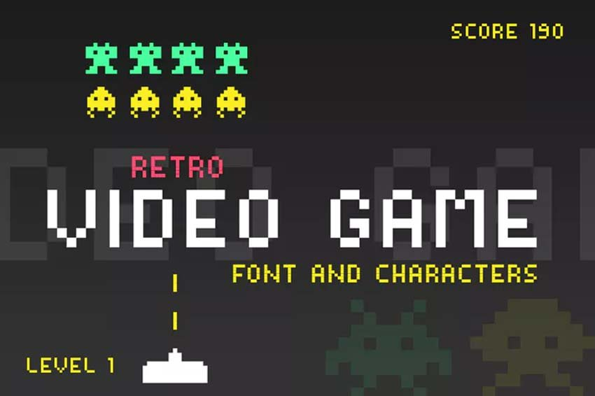 Video Game 80s Font