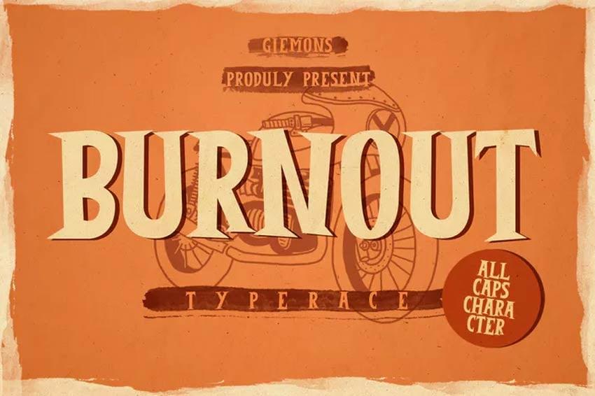 Burnout 80s Font