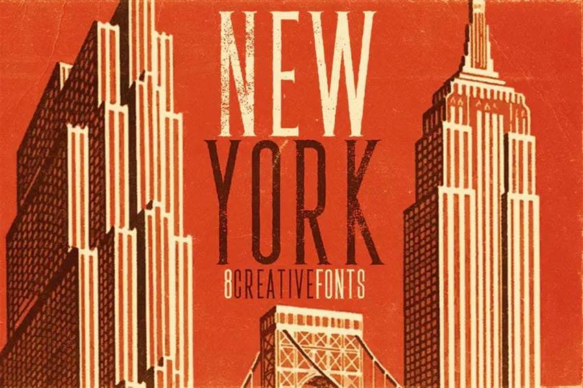 New York 80s Font