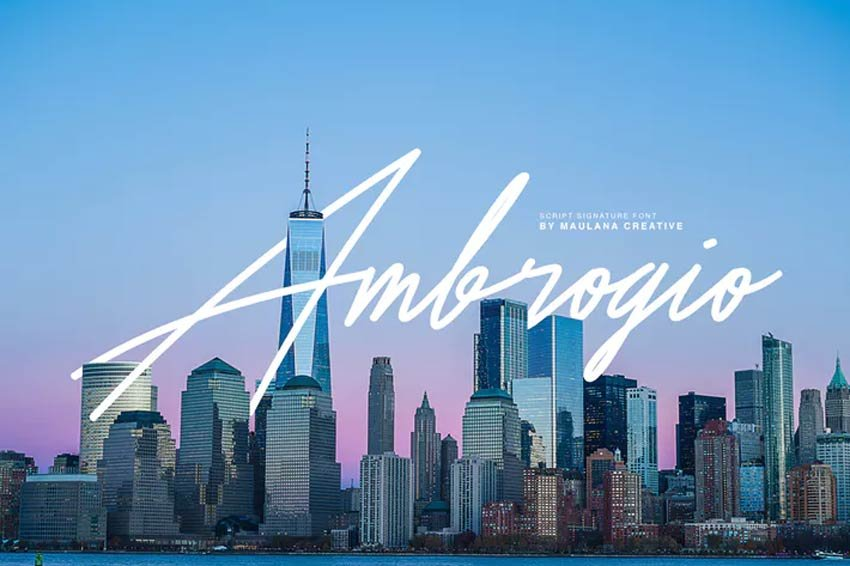 Ambrogio Signature Font