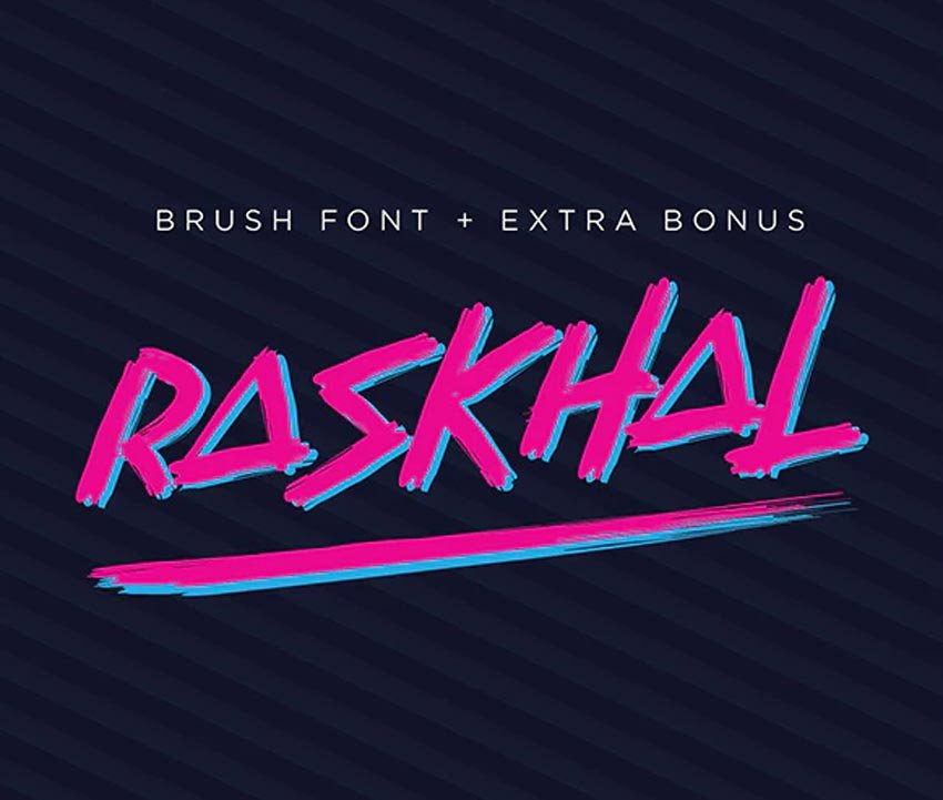 Raskhal 80s Font