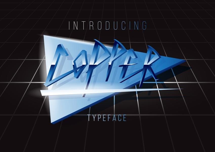 Copper 80s Retro Font