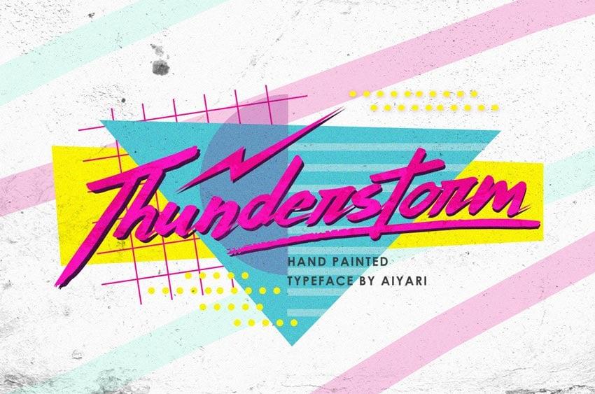 Thunderstorm Retro Font