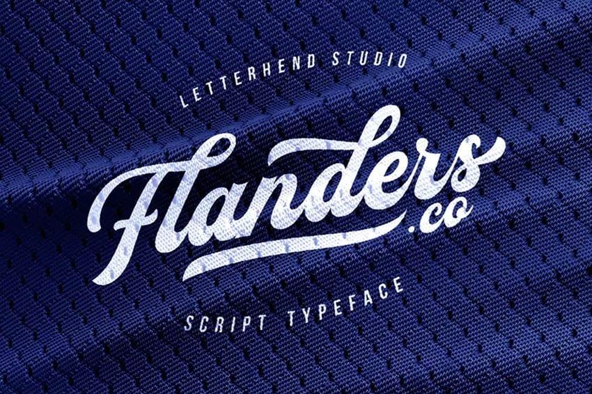 Flanders Baseball Jersey Font Style