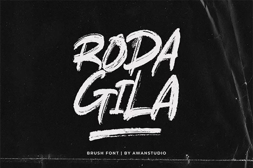 Rodagila Paint Brush Type Font