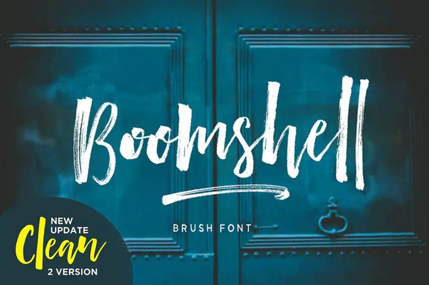 Boomshell Cursive Brush Font Download