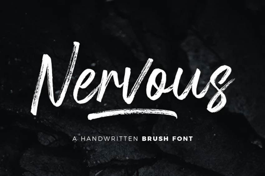 Nervous Cursive Brush Font