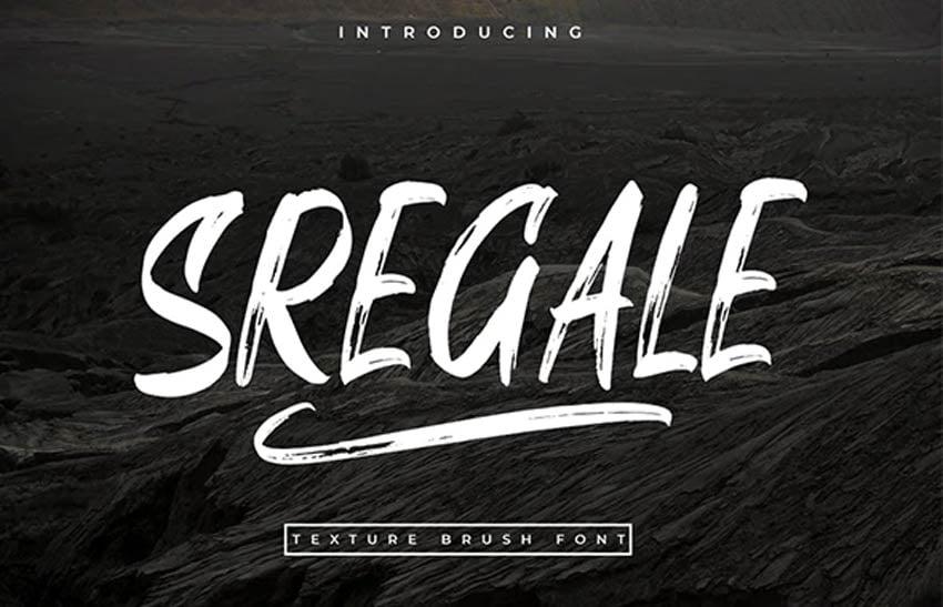 SREGALE Trendy Paint Brush Style Font