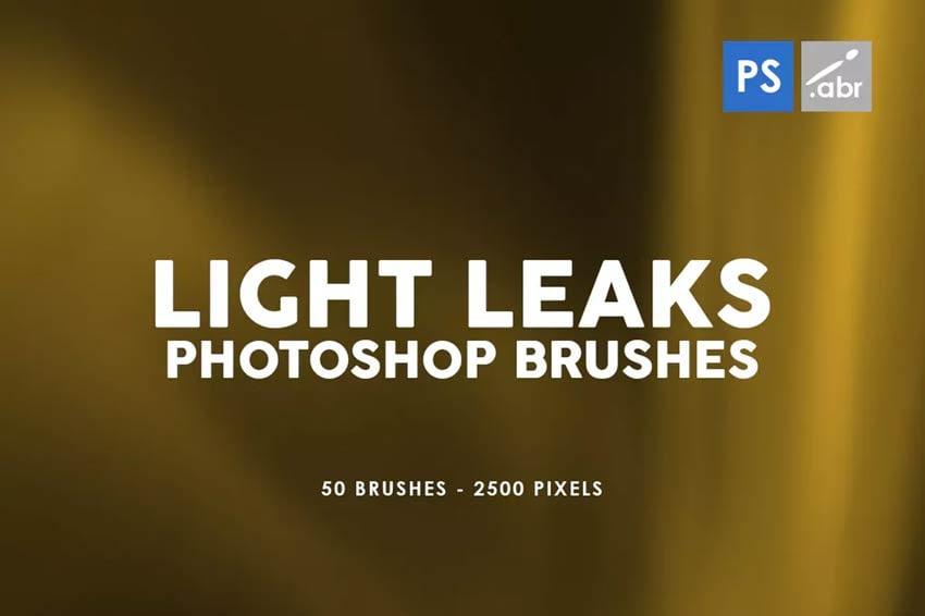 50 Light Leaks Photoshop Brushes