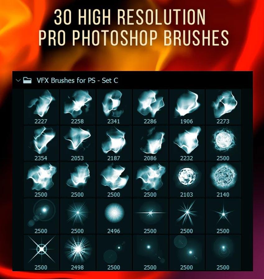 30 Vfx Brushes for Photoshop