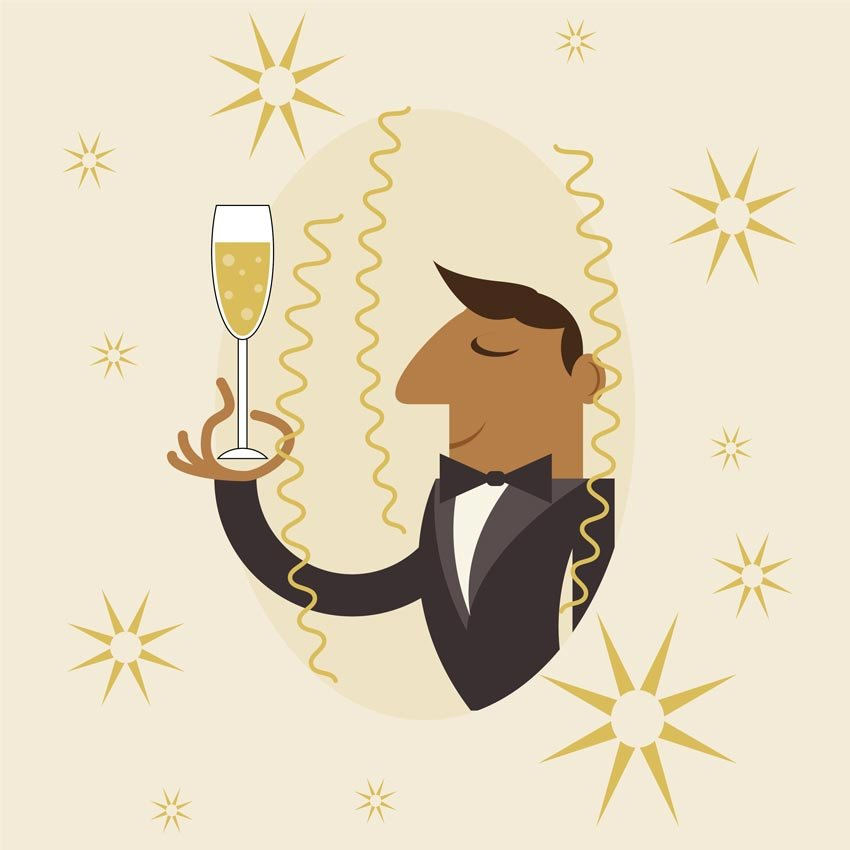 How to Create a Champagne Celebration Illustration in Adobe Illustrator