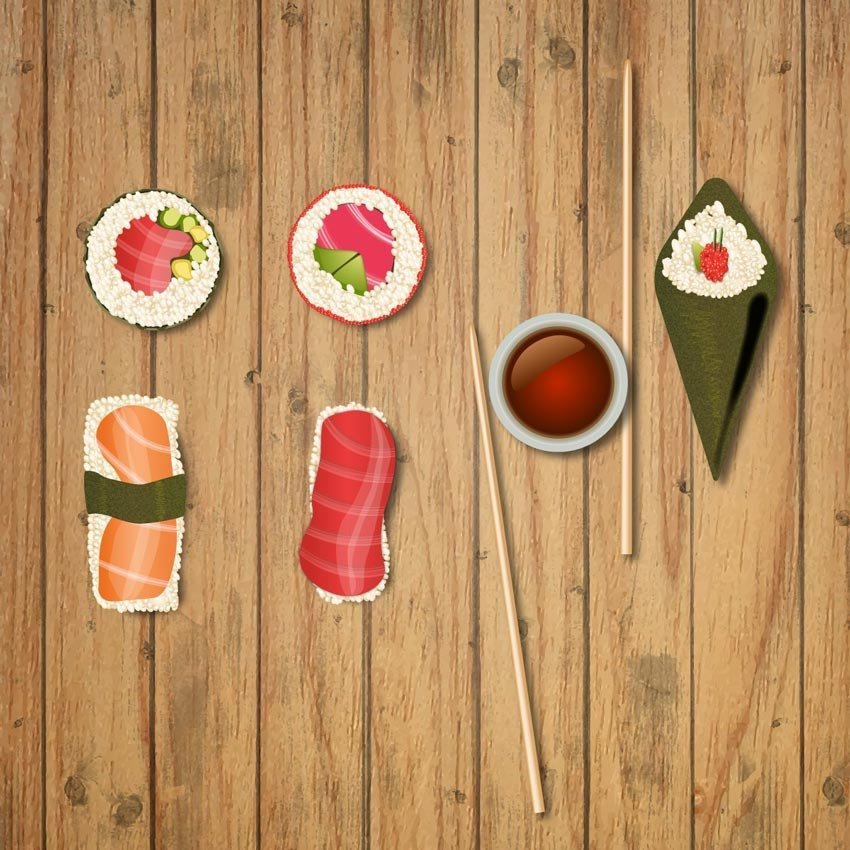 How to Create Vector Sushi Icons in Adobe Illustrator