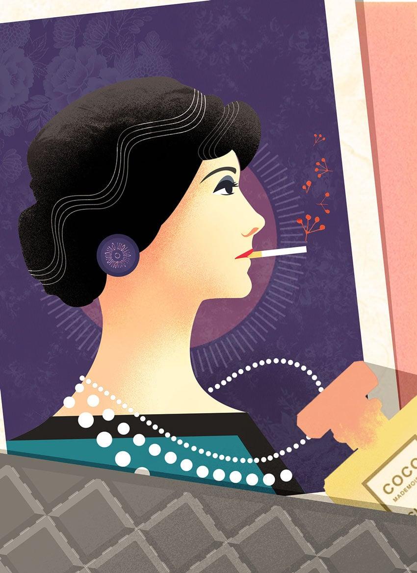 Editorial Illustrations Coco Chanel