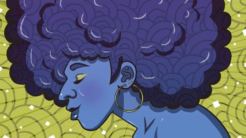 Woman in Profile Illustration