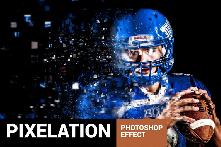 Pixelum - Digital Dispersion Effect Photoshop Action