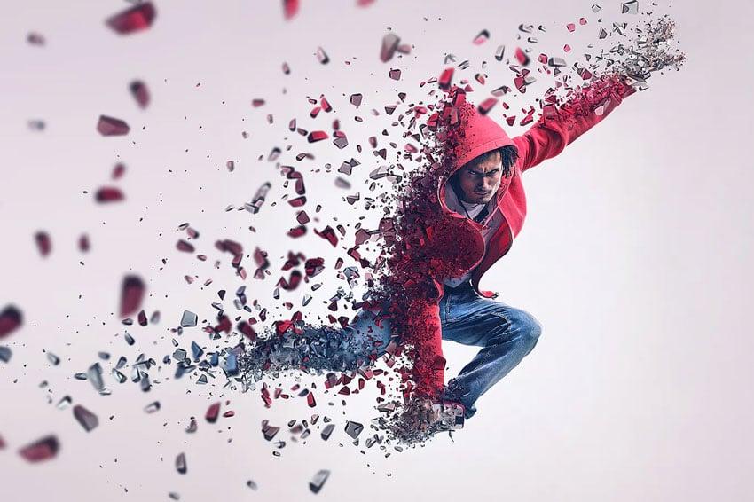 3D Dispersion Effect Photoshop Action