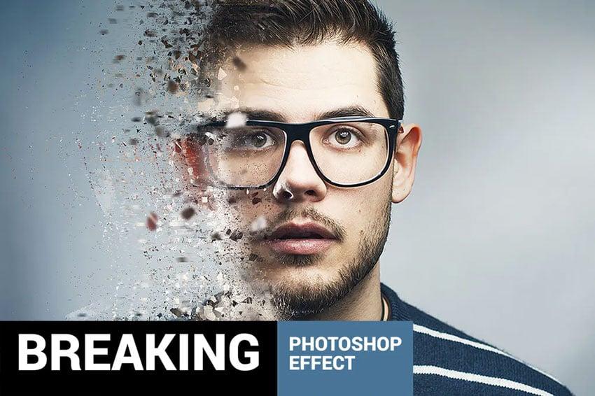 Fragmentum - Breaking Distressed Effect Photoshop Action